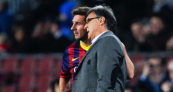 Tata martino with messi