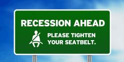 Recession seatbelt