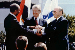Camp david handshake