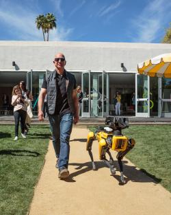 Bezos and robot dog