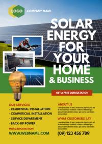 Solar energy ad mockup