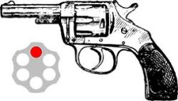Russian roulette gun