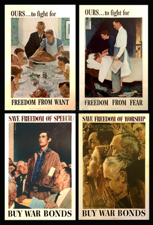 4 Freedoms posters