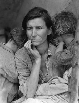 Great depression dorothy lange migrant mother