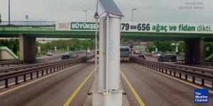 Wind turbine in traffic