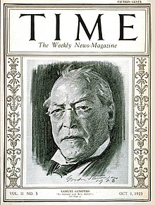 Samuel Gompers in 1923